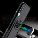 Защитный чехол - силиконовый для Samsung Galaxy A50 A505F Синий (с магнитом для держателя и кольцом)