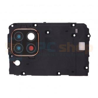 Рамка материнской платы Huawei P40 Lite с линзой камеры (черная)