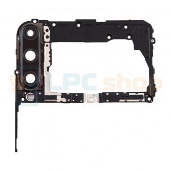 Рамка материнской платы Huawei P40 Lite E (ART-L29) с линзой камеры (черная)