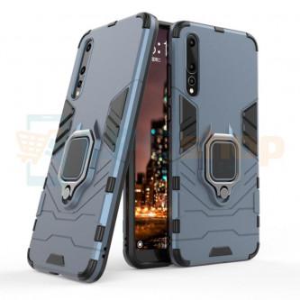 Защитный чехол - накладка для Huawei P20 Pro Синий (Navy Blue) (с магнитом для держателя и кольцом)