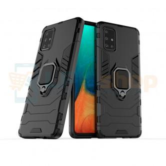 Защитный чехол - накладка для Samsung A71 A715F Черный (с магнитом для держателя и кольцом)
