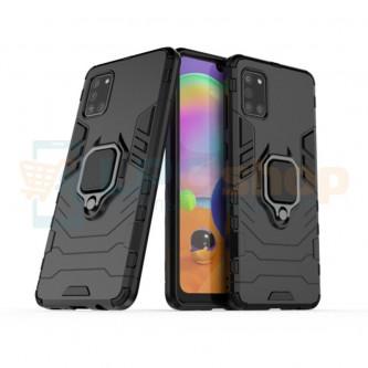 Защитный чехол - накладка для Samsung A31 A315F Черный (с магнитом для держателя и кольцом)
