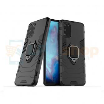 Защитный чехол - накладка для Samsung Galaxy S20 G980F Черный (с магнитом для держателя и кольцом)