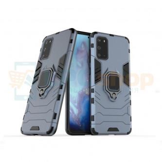 Защитный чехол - накладка для Samsung Galaxy S20 G980F Синий (Navy Blue) (с магнитом для держателя и кольцом)