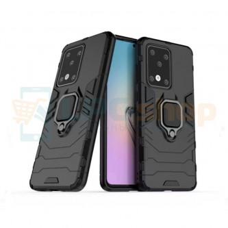 Защитный чехол - накладка для Samsung Galaxy S20 Ultra G988B Черный (с магнитом для держателя и кольцом)