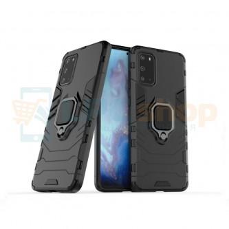 Защитный чехол - накладка для Samsung Galaxy S20+ G985F Черный (с магнитом для держателя и кольцом)