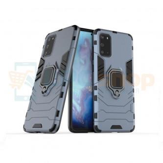 Защитный чехол - накладка для Samsung Galaxy S20+ G985F Синий (Navy Blue) (с магнитом для держателя и кольцом)