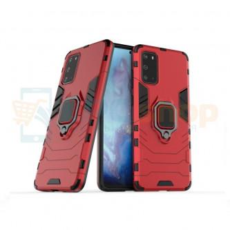 Защитный чехол - накладка для Samsung Galaxy S20+ G985F Красный (с магнитом для держателя и кольцом)
