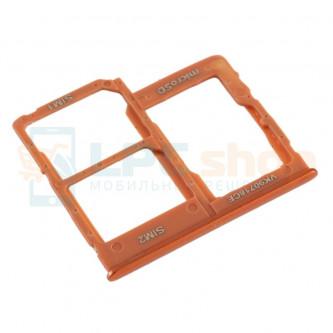 Лоток сим карты и карты памяти Samsung Galaxy A40 A405F (Dual sim) Оранжевый