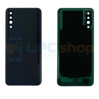 Крышка(задняя) Samsung Galaxy A50 A505F Черная с линзой камеры