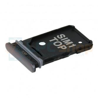 Лоток сим карты Samsung Galaxy A80 A805F Черный (только для SIM1)