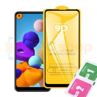 Защитное стекло (Полное покрытие) для Samsung A21s A217F Черное