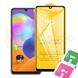 Защитное стекло (Полное покрытие) для Samsung A41 A415 Черное
