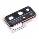 Стекло задней камеры для Huawei Honor 30 Черное + Рамка