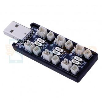 USB Адаптер для зарядки 6 аккумуляторов с разъемом JST PH-1.25мм и PH-2мм