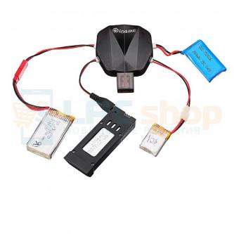 USB Адаптер для зарядки 4 аккумуляторов с разъемом JST MX2.0 / XH2.54 / MicroUSB