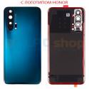 """Крышка(задняя) для Huawei Honor 20 Pro Зеленый c линзой камеры - """"Качество AA"""" (для Phantom Blue)"""