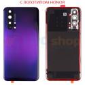 """Крышка(задняя) для Huawei Honor 20 Pro Фиолетовый c линзой камеры - """"Качество AA"""" (для Phantom Black)"""