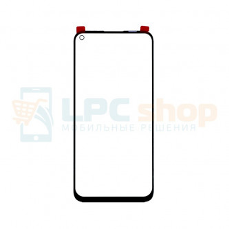 Стекло (для замены/переклейки) Huawei P40 Lite Черное