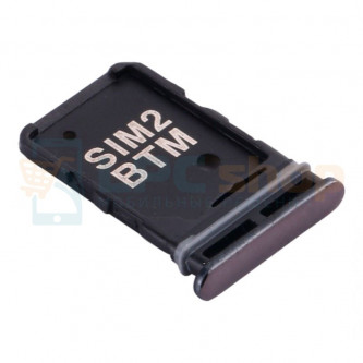 Лоток сим карты Samsung Galaxy A80 A805F Черный (SIM1+SIM2)