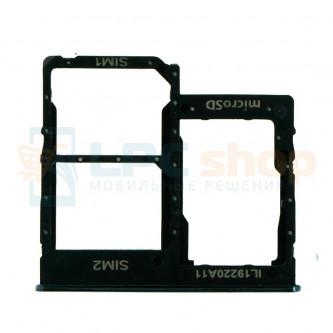 Лоток сим карты Samsung Galaxy A41 A415F Черный (Dual Card Version)