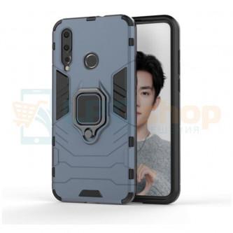 Защитный чехол - накладка для Huawei P30 Lite / Honor 20S / Honor 20 Lite MAR-LX1H Синий (Navy Blue) (с магнитом для держателя и