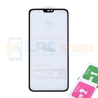 Защитное стекло (Полное покрытие) для OnePlus 6 Черное