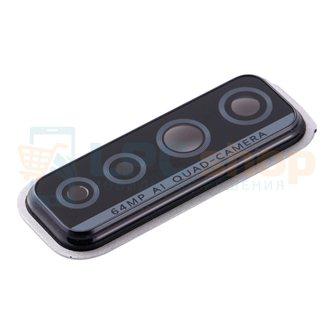 Стекло задней камеры Huawei Honor 30S (CDY-NX9A) в рамке Черное