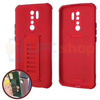 Чехол силиконовый с ремешком Xiaomi Redmi 9 красный