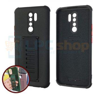 Чехол силиконовый с ремешком Xiaomi Redmi 9 чёрный
