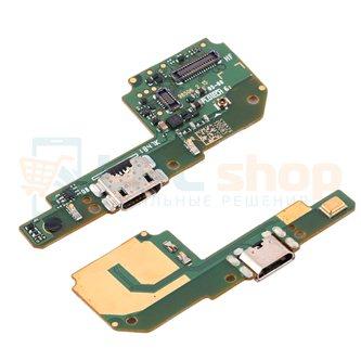 Шлейф разъема зарядки Xiaomi Redmi 6A / Redmi 6 (плата) и микрофон - ОРИГИНАЛ с компонентами
