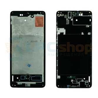 Рамка дисплея Samsung Galaxy A71 A715F Черная