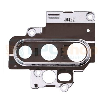Стекло задней камеры OPPO A9 (2020) / OPPO A5 (2020)  + рамка серебро
