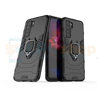Защитный чехол - накладка для Huawei Honor 30S Черный (с магнитом для держателя и кольцом)