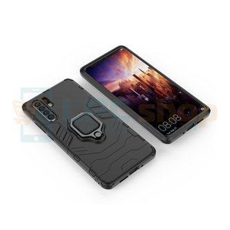 Защитный чехол - накладка для Huawei P30 Pro Черный (с магнитом для держателя и кольцом)