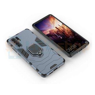 Защитный чехол - накладка для Huawei P30 Pro Синий(Navy Blue) (с магнитом для держателя и кольцом)