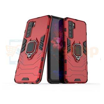 Защитный чехол - накладка для Huawei Honor 30S Красный (с магнитом для держателя и кольцом)