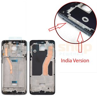 Рамка дисплея Xiaomi Redmi Note 8 Pro (INDIA VERSION для 2 Sim) Черная