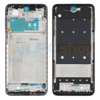 Рамка дисплея для Xiaomi Redmi Note 9S Черная (для Interstellar Gray)