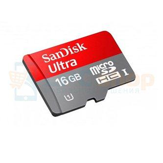 Карта памяти MicroSDHC 16GB Class 10 SanDisk Ultra 80MB/s без адаптера