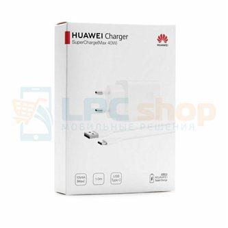 Сетевое зарядное устройство Huawei CP84 (2A/5V, 4A/10V, 40W,  FCP, QC 3.0, кабель Type-C) Белый - Ориг100