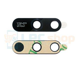 Стекло задней камеры Huawei Honor 7A PRO / Y6 2018 / 7C AUM-L41 (2 отверстия) Черное
