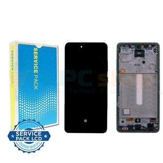 Дисплей для Samsung A52 A525F c рамкой Синий - Оригинал