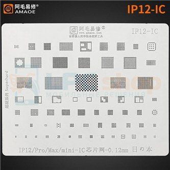 AMAOE BGA трафарет (IP12-IC) iPhone 12 / Pro / Max / mini