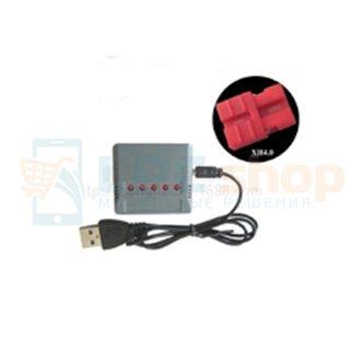 Зарядное устройство JST для АКБ 802035 / для SYMA X15 X5A-1 X15C X15W / 5портов (совместим с АКБ 103202)