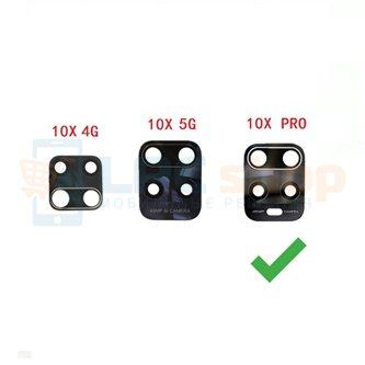 Стекло задней камеры для Xiaomi Redmi 10X Pro 5G Черное