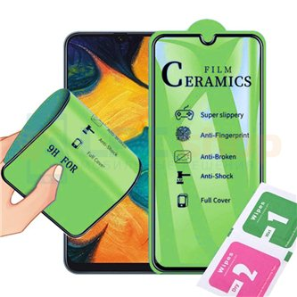 Защитное стекло / пленка Ceramics для Samsung A52 A525F Черная Глянцевая