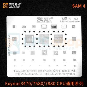 AMAOE BGA трафарет Samsung (SAM4) A520F / A310F / A700F / A500F / A300F / S5 G900F / G800F / J700 / Exynos3470/7580/7880