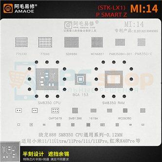 AMAOE BGA трафарет Xiaomi (MI14) SM8350 / 11 / 11 Ultra / 11 Pro / K40 PRO / 11i / 11X Pro / SDR868 / PM8350 / SMB1396 / WCD9380