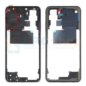 Средняя часть Xiaomi Redmi Note 10 M2101K7A Черная + кнопки громкости